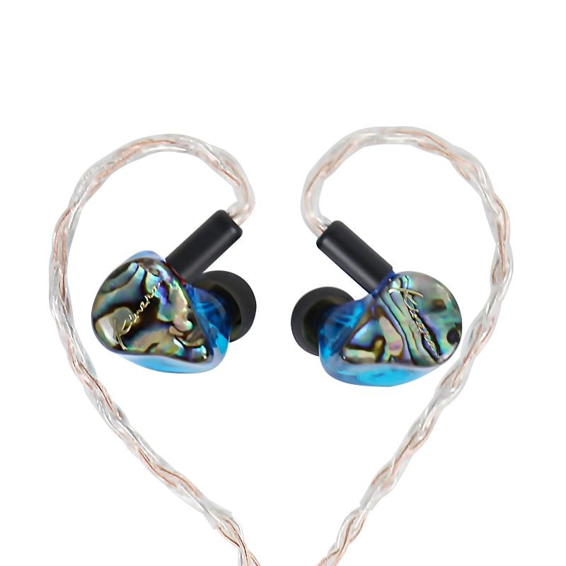 KINERA IDUN In Ear Earphone 2BA+1DD Hybrid Sport Earphone With Silver Copper Weave Cable цена