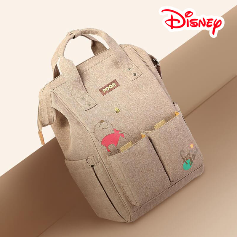 цена на Disney Mickey Minnie Winnie The Pooh Bear Best Diaper Bag Baby Bag Backpack Mummy Maternity Care Large Capacity Nappy Bag