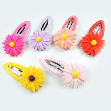 NEW 1 PIECE Hair Accessories Kids Sun Flower Shaped Hairpins Girls Hair Clips Headwear 6 Colors