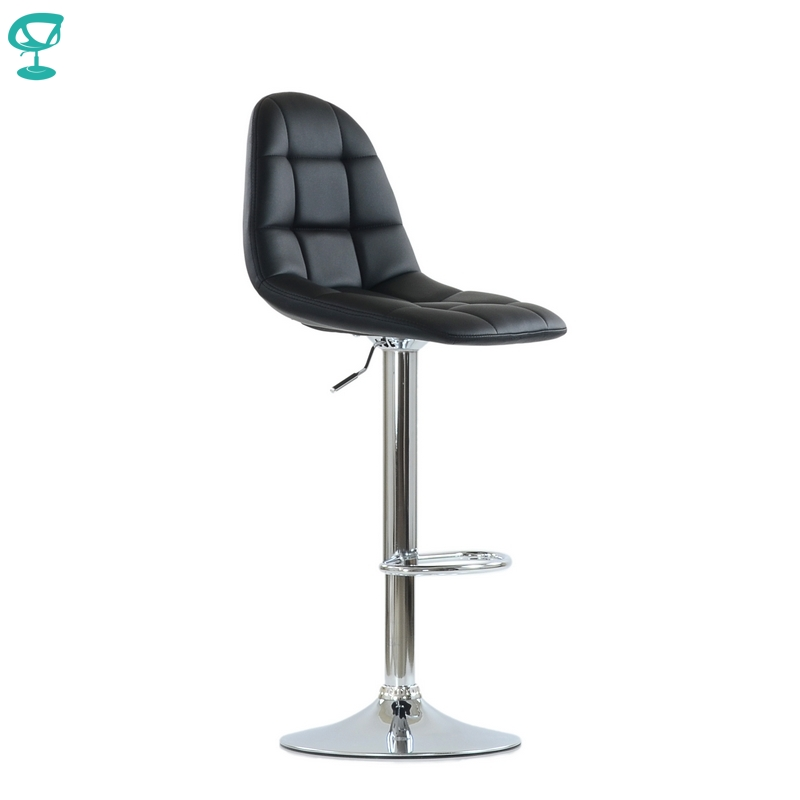 N96CrPuBlack Barneo N-96 PU Leather Kitchen Breakfast Bar Stool Swivel Bar Chair Black Color Free Shipping In Russia