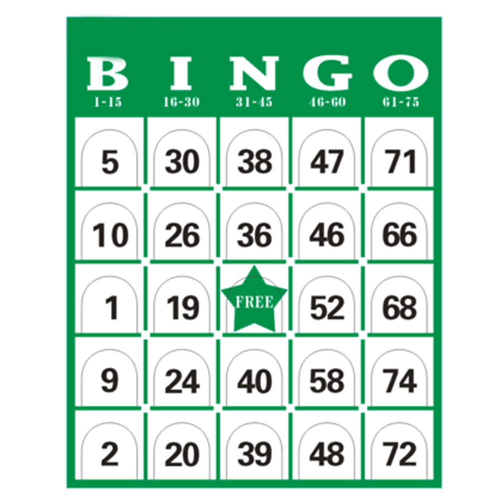 60 PCS/Set Complete Bingo Game Card Set Family Night Fun