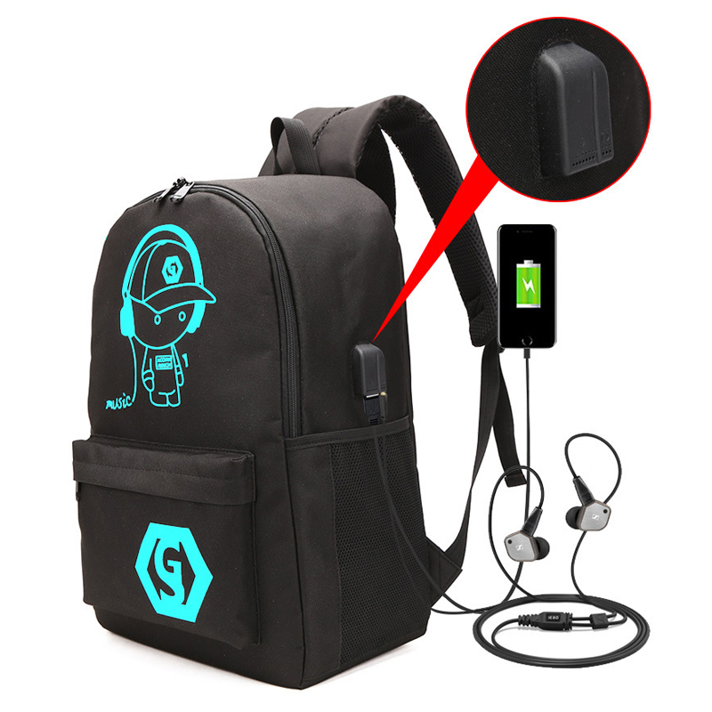 Luminous, Reflective, Student, Backpack, For, Schoolbag