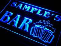 W Tm Name Personalized Custom Home Bar Beer Mugs Cheers Neon Sign