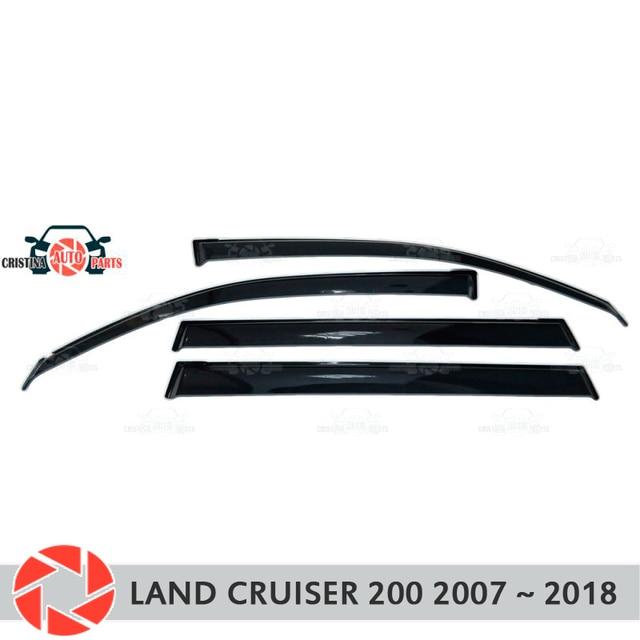 Дефлектор окон для Toyota Land Cruiser 200 2007 ~ 2018, дефлектор дождя, защита от грязи, аксессуары для украшения автомобиля, Молдинг