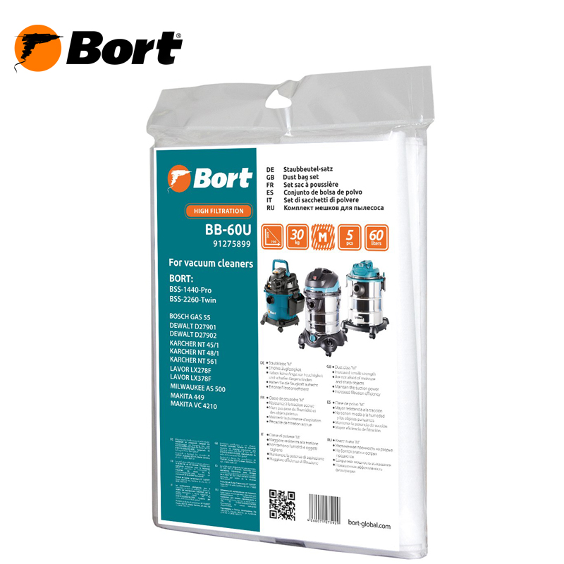 Set of dust bags for vacuum cleaner BORT BB-60U 10pcs replacement vacuum cleaner bags dust collector paper bags for vacuum cleaner mc cg321 ca291 ca391c 13 bag parts