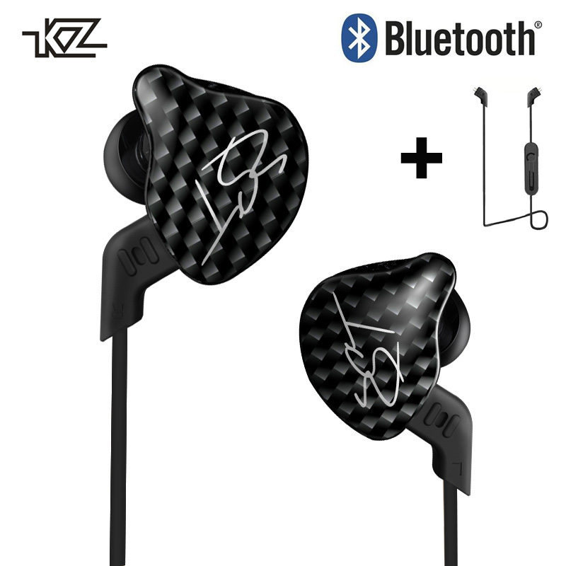 KZ ZST Bluetooth Earphone MMCX Hybrid  HIFI DJ Sport Wireless Earbuds In Ear Earphones with/no Microphone Headset For Phone new senfer xba 6in1 2ba 1dd in ear earphone hybrid 3 driver unit hifi earplhones with mmcx interface free shipping