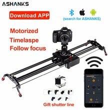ASHANKS Aluminum Camera Slider Motorized TimeLapse Electric Delay Slide Track Rail Stabilizer for Photography Canon DSLR Video