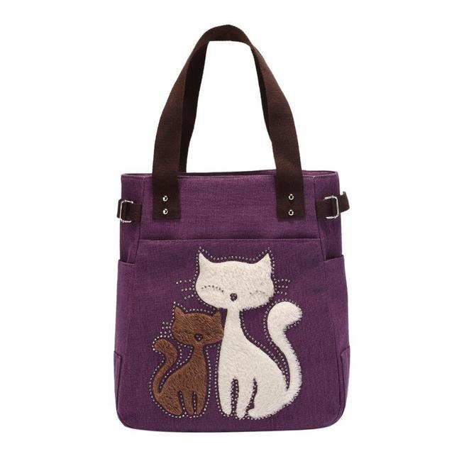 Cute Cat Canvas Handbag...