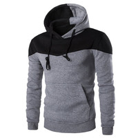2017 Autumn Winter Fashion Hoodies Mens Male Hip Hop Casual Male Brand Hoodie Color Stitching Sweatshirt