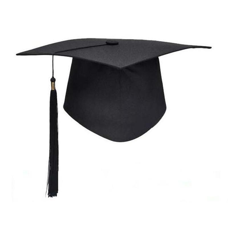 Nova alta qualidade adulto bacharel graduação bonés com borlas para cerimônia de formatura festa suprimentos