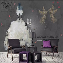 Vintage white swan wedding clothing store tooling background wall custom large wallpaper mural 3D photo wall factory wholesale блэйзер liyagu wholesale clothing vintage 34b