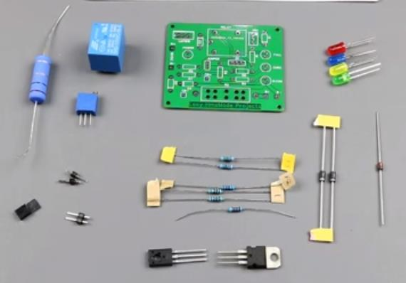 Diy 12V charger circuit board with parts :: Green manufacturer
