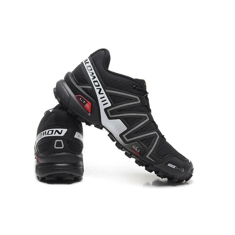 Salomon Shoes Speed Cross 3 CS III Men Running Shoes Summer Breathable Flats Sport Shoes Trainers Black White Sneakers EUR 40-46 ботинки salomon ботинки shoes shelter spikes cs wp black bk ptr