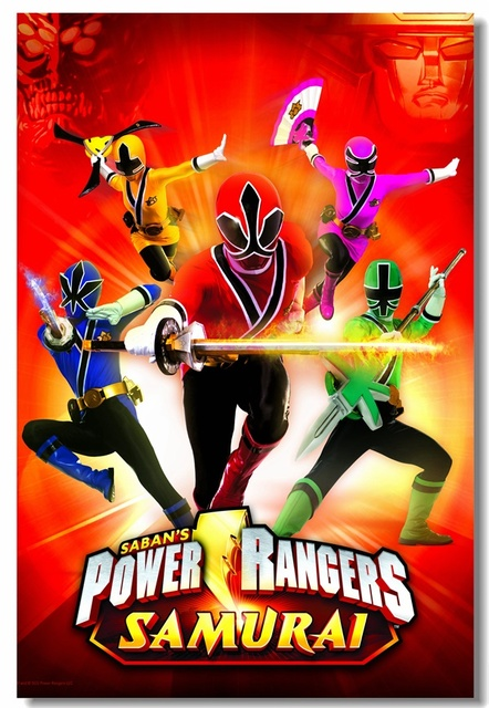 Power Rangers Bedroom: Custom Canvas Wall Decor Power Rangers Poster Power
