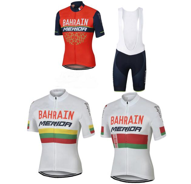 2018 New Summer Short Sleeve Cycling Jersey Quick Dry Team Bahrain Lampre  MERIDA Ropa Ciclismo Quick Dry Clothing Bike -in Cycling Sets from Sports  ... 24b0244df