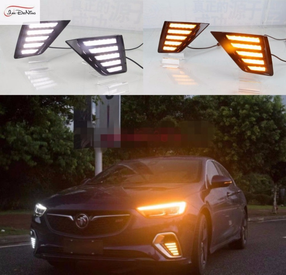 Led Regal Us 189 Jandening 2pcs Led Daytime Running Light Yellow Signals Drl For Buick Regal Gs And Opel Insignia Gsi 2018 In Car Light Assembly From