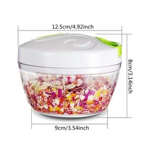 Vegetable Chopper, Hand Pull Manual Food Vegetable Fruits Nuts Onions Chopper Mincer Blender Mixer Processor, Kitchen Tools