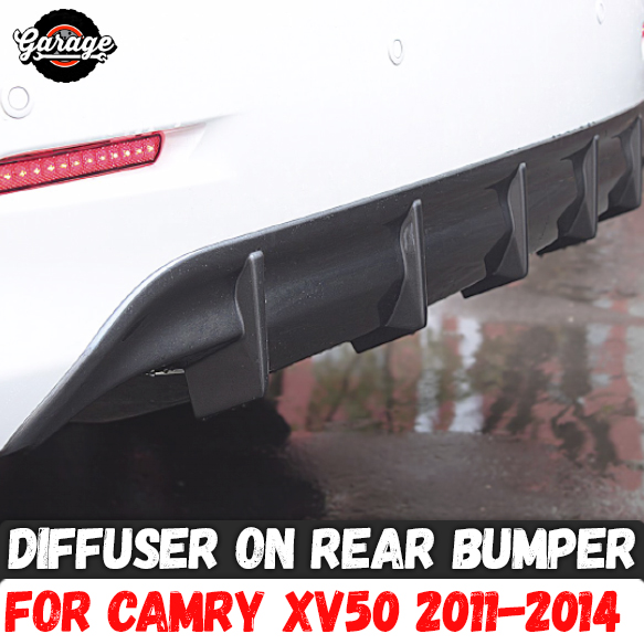 Diffuser of rear bumper case for Toyota Camry XV50 2011 2014 ABS plastic skirt pad body