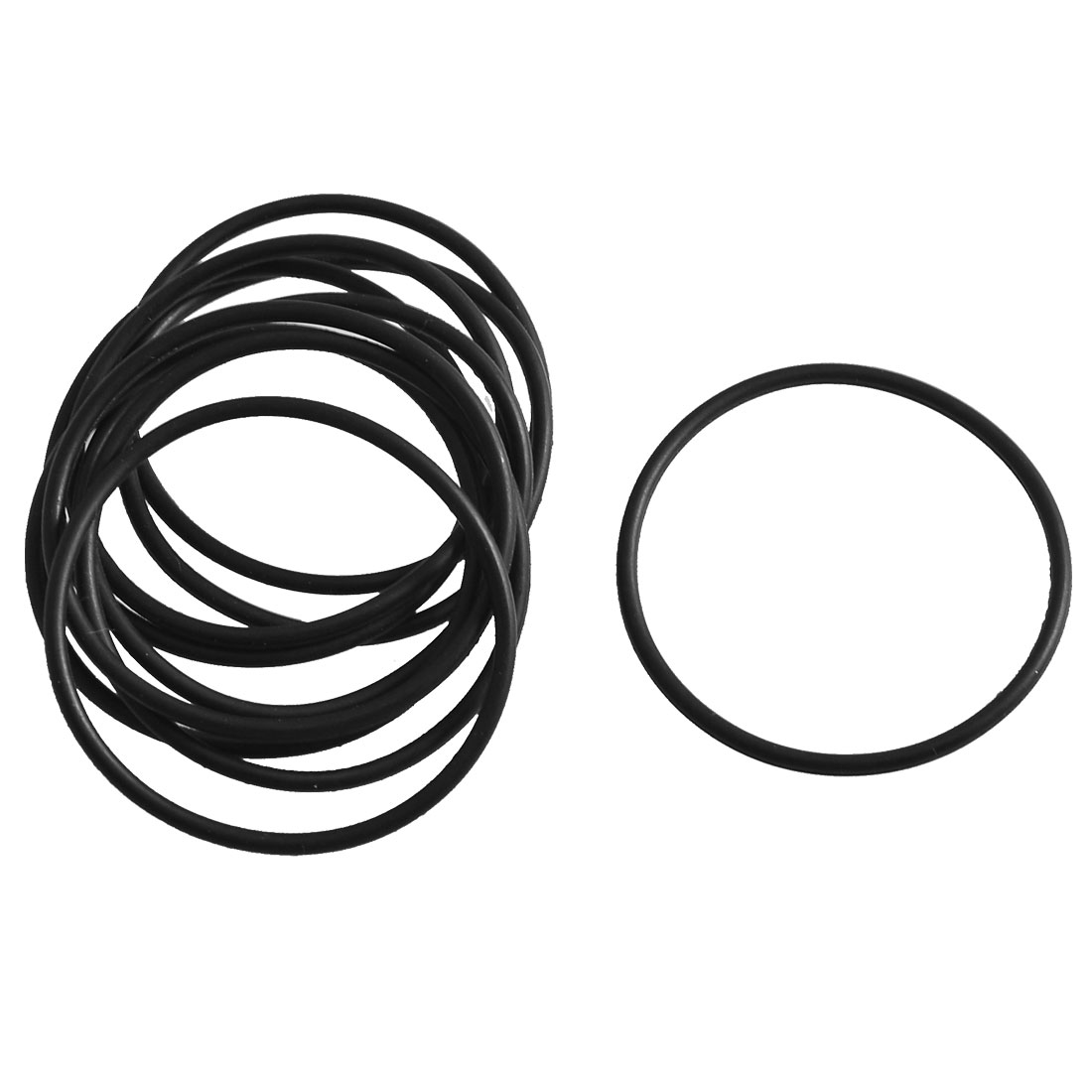 uxcell 10PCS Black Rubber Oil Filter Seal O Rings Gaskets 50mm x 48mm x 1mm a14022100ux0147