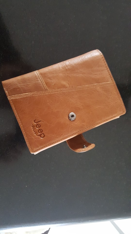 Jeep Brand Genuine Cow Leather Men Wallet Fashion Coin Pocket Trifold Design Men Purse High Quality Women Card ID Holder 8230 photo review