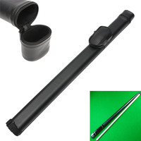 1x1 Hard Pool Cue Stick Carrying Case Billiard Canister 2 Holes 1 Butt 1 Shaft Black