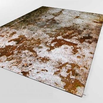 Décor Mural Gris | Autre Brun Gris Vintage Vieillissement Vieux Mur Design 3d Impression Antidérapant Microfibre Salon Décoratif Moderne Lavable Zone Tapis