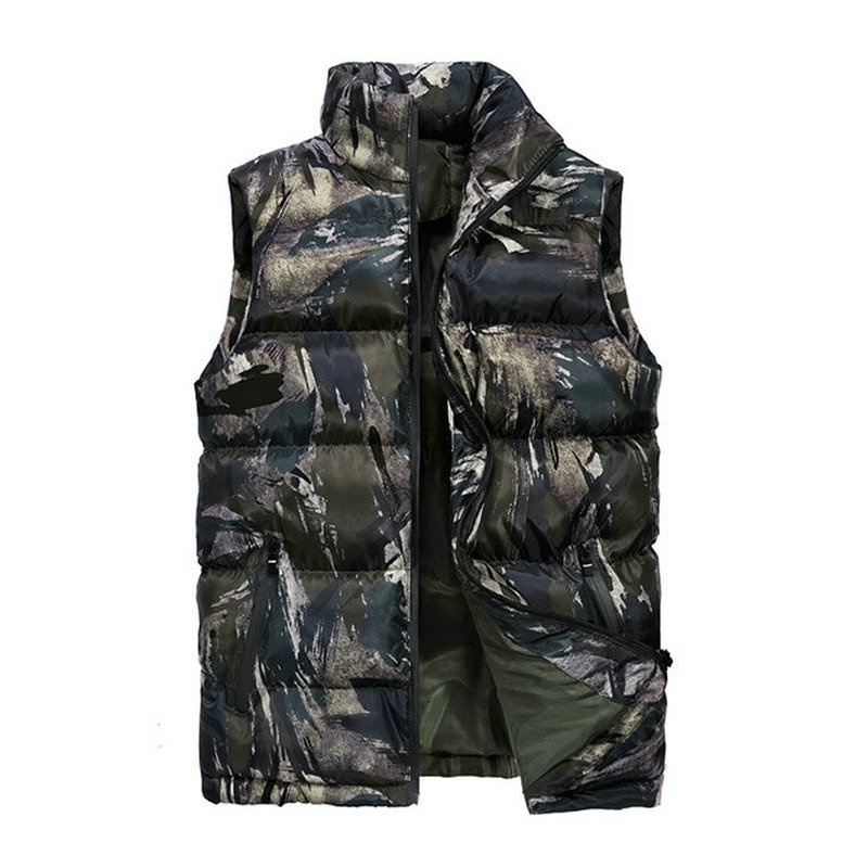 2020 Casual Spring Autumn Vest Men Winter Camouflage Sleeveless Jackets Male New Fashion Waistcoat Men's Vests Warm Outwear