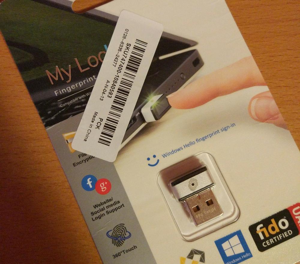 World's Fastest Fingerprint USB Dongle Gadget For Windows Hello