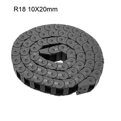 UXCELL R18 Openable Drag Chain Cable 10x20mm 10x11mm 1M Carrier Open Type Transmission Chains with End Connector for CNC Router