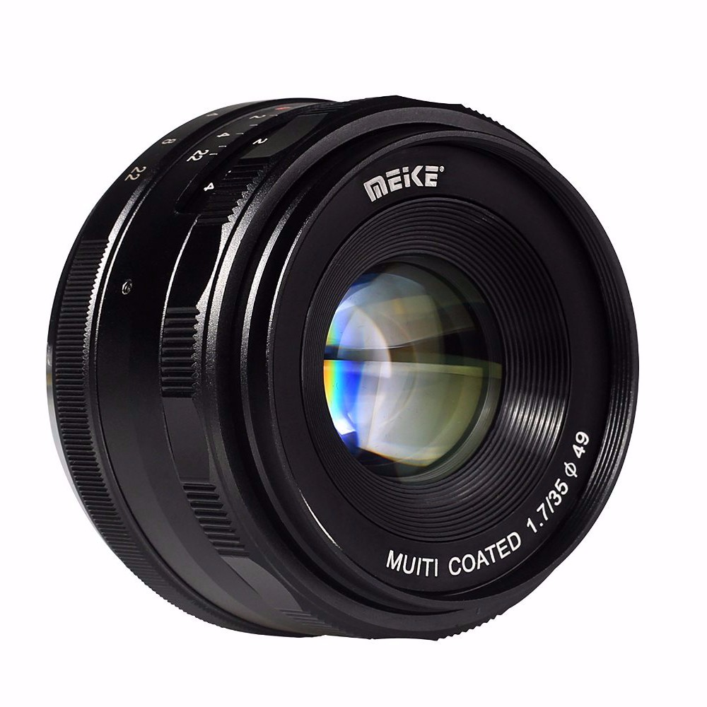 Meike MK-EM-35-1.7 35mm f 1.7 Large Aperture Manual Focus lens APS-C For Canon EOS-M Mirrorless DSR DSLR cameras LensesMeike MK-EM-35-1.7 35mm f 1.7 Large Aperture Manual Focus lens APS-C For Canon EOS-M Mirrorless DSR DSLR cameras Lenses