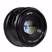 лучшая цена Meike MK-EM-35-1.7 35mm f 1.7 Large Aperture Manual Focus lens APS-C For Canon EOS-M Mirrorless DSR DSLR cameras Lenses