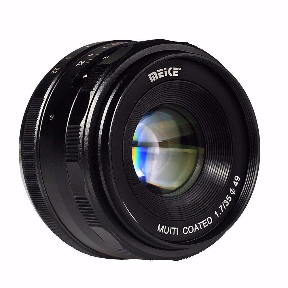 Meike MK-EM-35-1.7 35mm f 1.7 lentille de mise au point manuelle à grande ouverture APS-C pour Canon EOS-M sans miroir DSR DSLR objectifs
