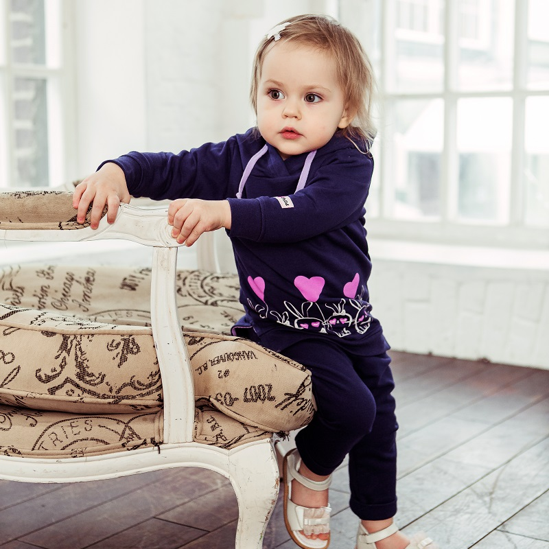 Hoodies & Sweatshirts Lucky Child for girls 54-66pfcv Cardigan Sweatshirt Kids Coat Children clothes hoodies
