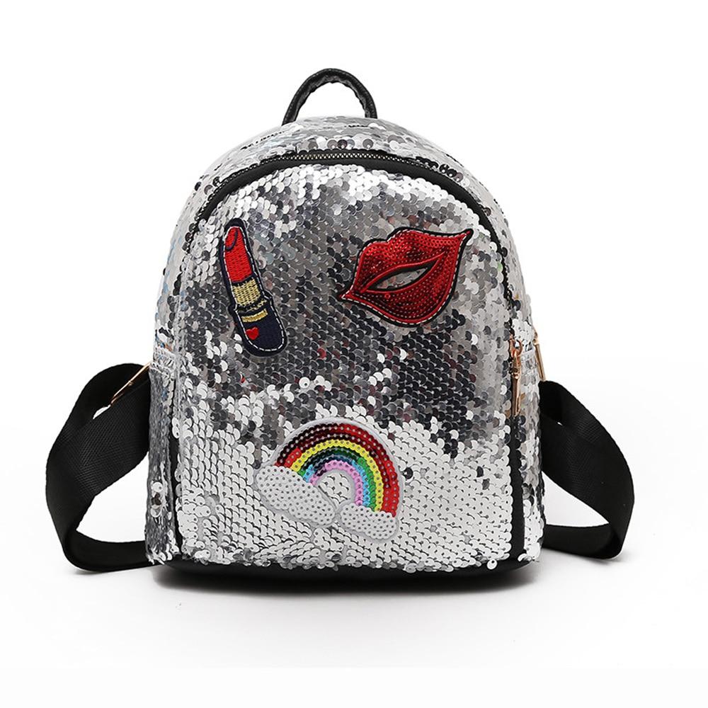 100% QualitäT Rucksäcke Für Frauen Rucksack Pu Mini Pailletten Funkelnde Schultasche Student Teenager Mädchen Weibliche Schultasche Rucksack