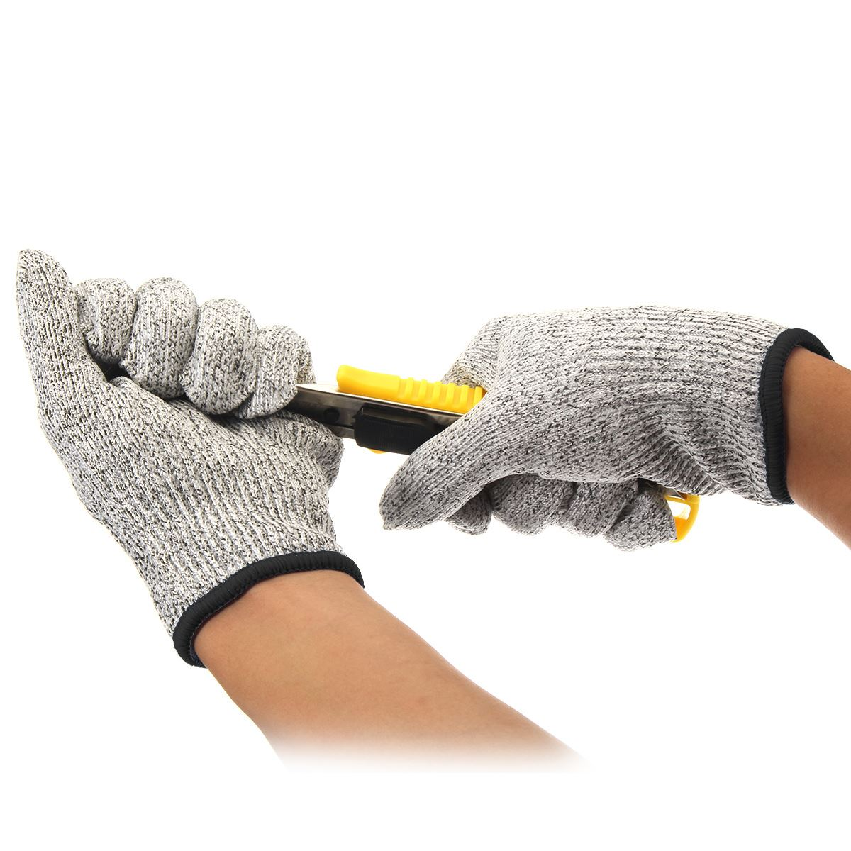 NEW Safurance Safety Cut Proof Stab Resistant Stainless Steel Wire Metal Mesh Butcher Gloves  Cut-Resistant Working Safety new safurance 10 paris wear resistant nylon nitrle precision protective builders gardening working safety gloves