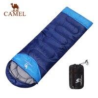 CAMEL 220*75CM Camping Envelope Sleeping Bag Adult Splicing Double Outdoor Travel Hiking Three Seasons Keep Warm Sleeping Bag