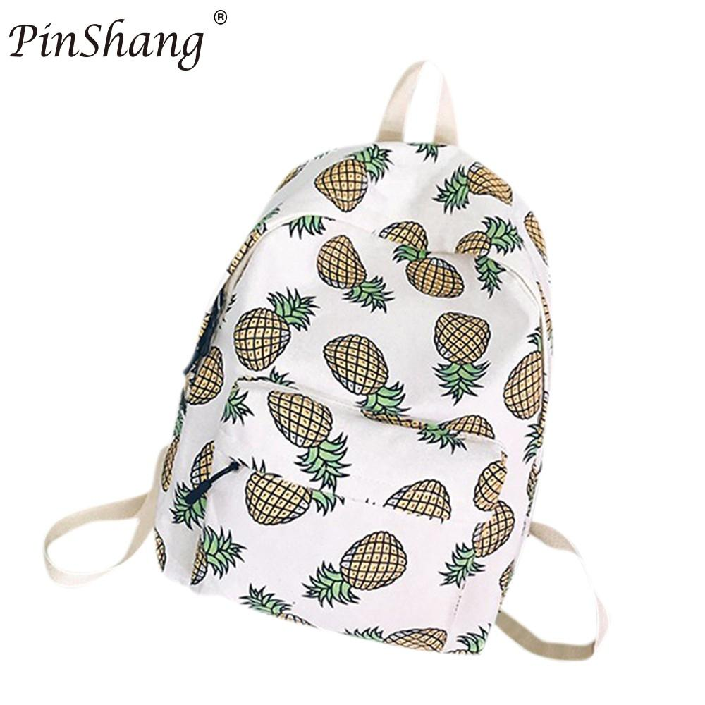PinShang Women Backpack For School Teenagers Girls Boys Bags Pineapple Cute back pack Canvas Printing Backpacks Travel  ZK25PinShang Women Backpack For School Teenagers Girls Boys Bags Pineapple Cute back pack Canvas Printing Backpacks Travel  ZK25