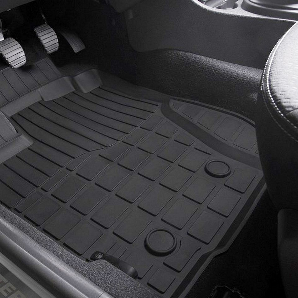 For Nissan Terrano 2017-2019 rubber floor mats into saloon 5 pcs/set Rival 64701003 for nissan terrano 4wd 2014 2019 rubber floor mats into saloon 5 pcs set rival 64701002