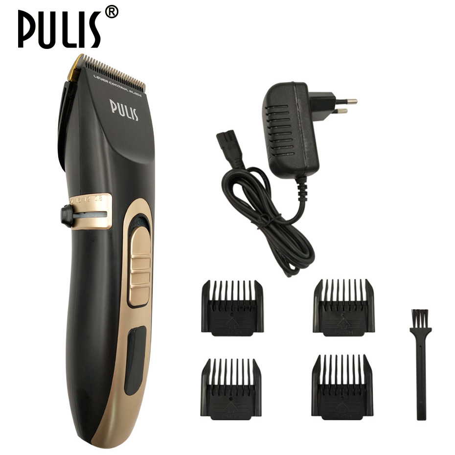 PULIS Electric Hair Clipper Professional Hair Trimmer 100-240V Rechargeable Hairstyle Tool Haircut Machine For Home Barber 9150