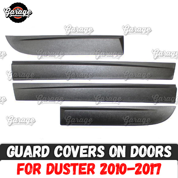 Guard covers on doors for Renault Dacia Duster 2010 2017 ABS plastic accessories protective plate scratches