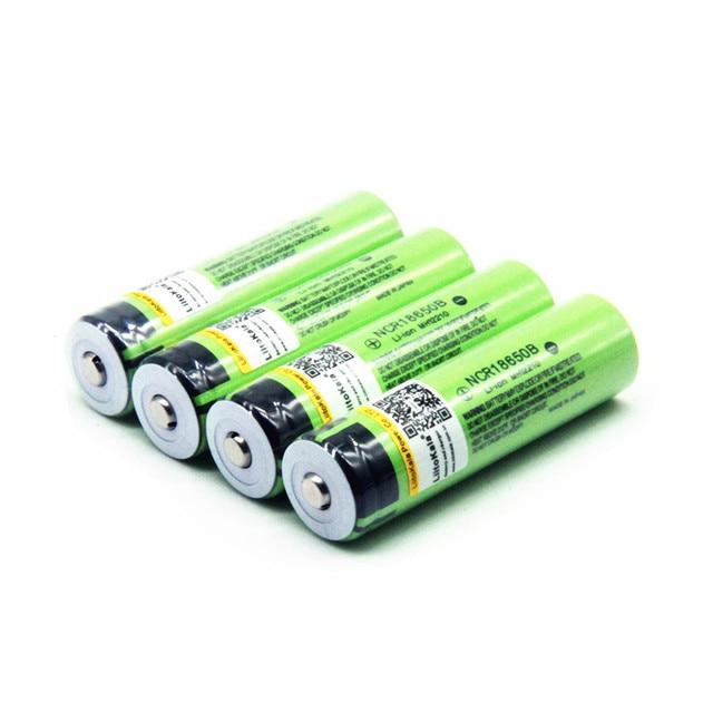 Hot liitokala 100% New Original NCR18650B 3.7 v 3400 mah 18650 Lithium Rechargeable Battery For Flashlight batteries (NO PCB) 4