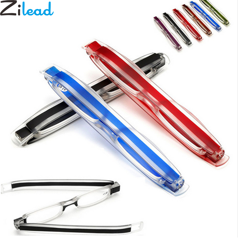 Zilead 360 Degree Rotation Folding Reading Glasses Diopter Men Women Foldable Presbyopic Reading Glasses 1.0 1.5 2.0 2.5 3.0 3.5