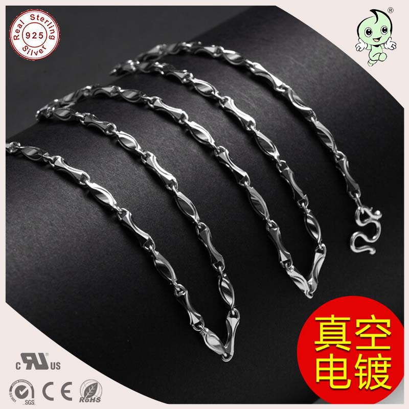 Hot Sale Good Quality Cool Casual 50CM Length 925 Sterling Silver Thicker Man Necklace Chain hot sale new collection good quality luxuxious shine 925 real silver honeycomb lace ring