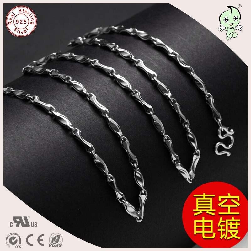 Offre spéciale bonne qualité Cool décontracté 50CM longueur 925 en argent Sterling plus épais homme collier chaîne