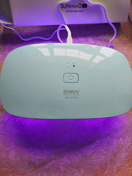 SUNUV Nail Dryer SUNmini2 Plus White UV LED Lamp15Leds Curing Thumb Nail Manicure Pedicure Faster USB Charge Europe Adapter