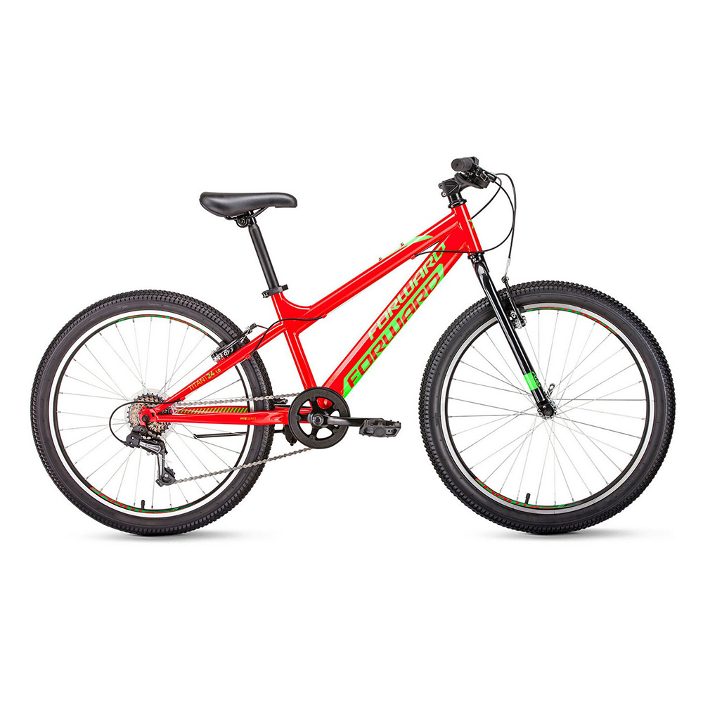 Bicycle FORWARD TITAN 24 1.0 (24 6 CK. Height 13 ) 2018-2019 велосипед forward titan 24 2 0 disc 13 красный