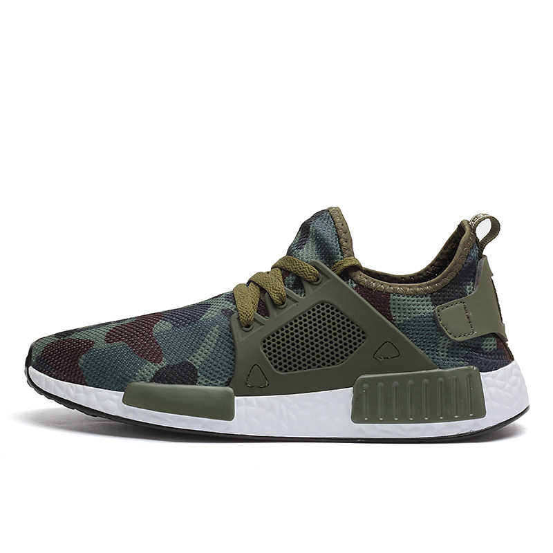 bdf9dc911 2018 men human race shoes camouflage men casual shoes summer army green  trainers ultra boosts zapatillas