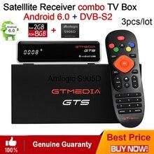 3PCS Freesat GTmedia GTS Android 6.0 4K Smart TV BOX Amlogic