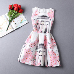 Vintage Summer Women Princess Dress Floral Print Sexy Bodycon Sleeveless Casual O Neck Lady Elegant Party Dresses Vestidos XL 4