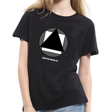 Women Summer Short Sleeve T-Shirt Fashion Geometric Print Top Tee